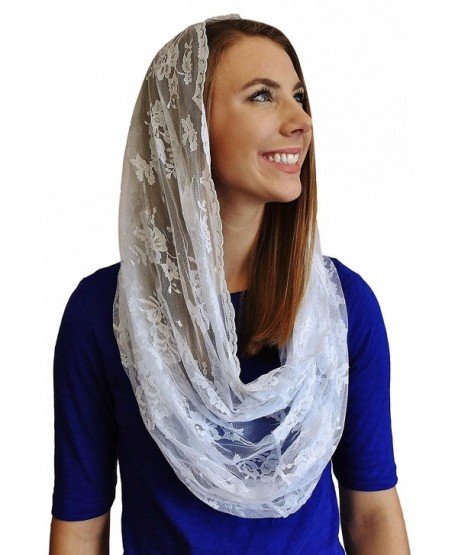 Infinity Scarf Mantilla - Catholic Chapel Veil - Made in USA of Imported Fabric - Ivory - CF12CRNDUM9