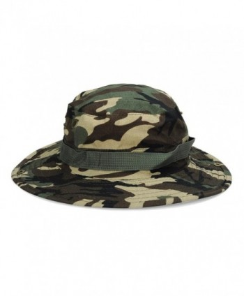 DDLBiz Unisex Bucket Hat Boonie Hunting Fishing Outdoor Wide Cap Sun Cap - Green - C312O5HJQGF