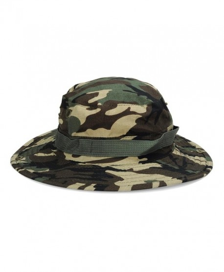 DDLBiz Unisex Bucket Hat Boonie Hunting Fishing Outdoor Wide Cap Sun Cap - Green - C312O5HJQGF