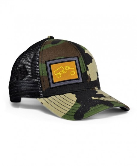 bigtruck Classic Mesh Snapback Baseball Hat- Camo/Grey - CT12991LT8T