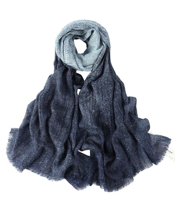 Winter Shawl ZORJAR Fashion Scarves Womens - Blue - CM12MXO9HRT