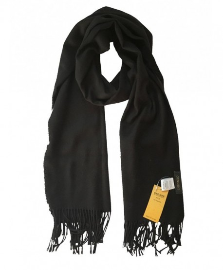 OUMUSHI Scarf For Women Cashmere Soft Warm Stole Winter Wraps Shawls Solid Color - Black - CO1885Y0LW7