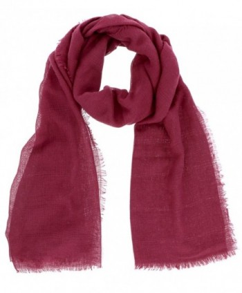 7 Seas Republic Women's DISTRESSED-HEM OBLONG SCARF - Burgandy - CT12O37YM61