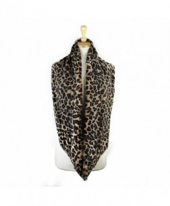 Paskmlna Animal Infinity Circle Leopard in Cold Weather Scarves & Wraps