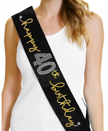 40th Birthday Party Decorations Happy Sash By RhinestoneSash