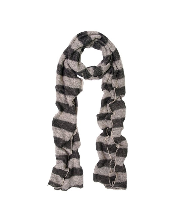 Premium Long Soft Knit Striped Scarf - Different Colors Available - Taupe - CI11H43D41P