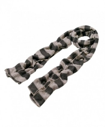 Premium Long Striped Scarf Taupe
