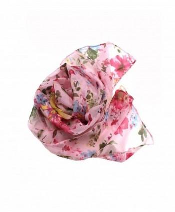 Modadorn Misty Flower Chiffon Scarf in Fashion Scarves