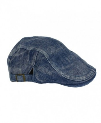 Denim Newsboy Gatsby Cabbie Driver in Men's Newsboy Caps