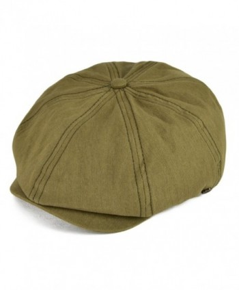 VOBOOM Men's Cotton 8 Panel Gatsby newsboy Cap IVY Hat BDMZ134 - Army Green - CV18496L7N9