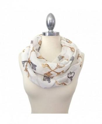 Califul Lightweight Scarves: Fashion Print Scarf Shawl Wrap For Women - Infinity Scarf 5034 White - C512MX7E6YU