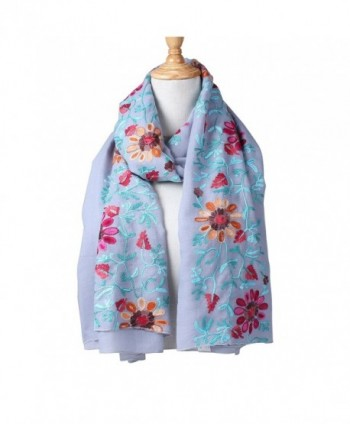 Vankerful Colorful Embroidered Wraps Soft 032Lavener