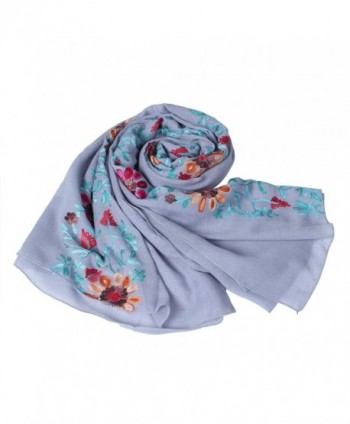 Vankerful Colorful Embroidered Wraps Soft 032Lavener in Fashion Scarves