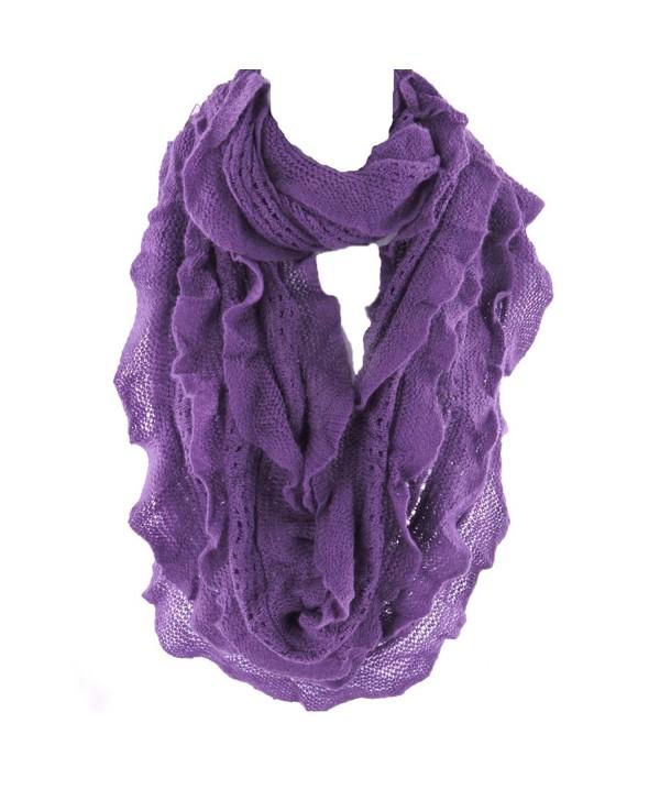 Infinity Silver Fashionable Elegant Endless - Purple - CD11B3YBUP3