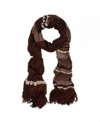Premium Multi Striped Scarf - Different Colors Available - Dark Brown - C8110VSSQSV