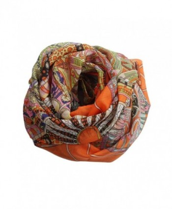 Baomabao Fashion Chiffon Printed Orange