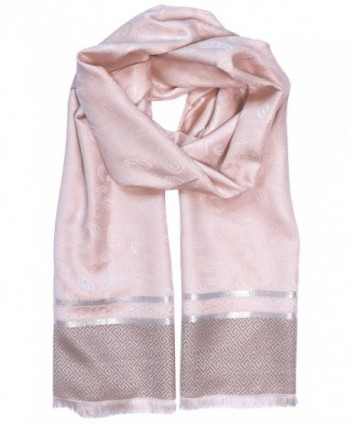 KMystic Paisley Lightweight Pashmina Scarf Wrap - Peach - CF12529JR95