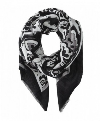 Vera Bradley Women's Soft Wool Scarf Midnight Paisley Scarf One Size - Midnight Paisley - CQ11MC7636V