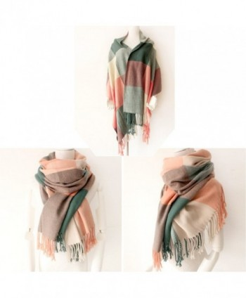 Womens Blanket chunky oversized tartan in Cold Weather Scarves & Wraps