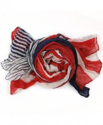 Bucasi Nautical White Stripe Scarf in Fashion Scarves
