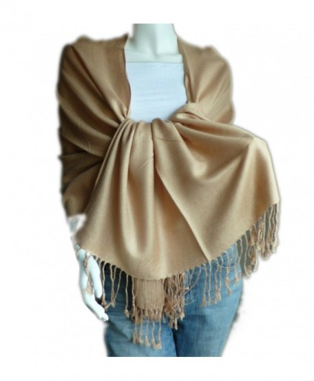 New Best Soft 100% Pashmina Shawl Wrap Stole (Camel) - CP114ZWQV5J