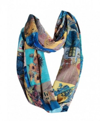 Etwoas Paintings Infinity Scarf Circle in Fashion Scarves