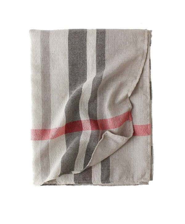 Cotton Scarf Shawl Wrap Soft Lightweight Scarves And Wraps For Men And Women. - Beige Plaid - C4189R5DY4O