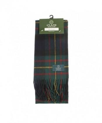 Clans Of Scotland Pure New Wool Scottish Tartan Scarf Maclaren (One Size) - C1123H4EIGT