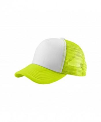 EnimayUnisex Men's Women's Solid & Two-Tone Mesh Baseball Style Trucker Hat - Two-tone Neon Yellow - CF122TIJE6X