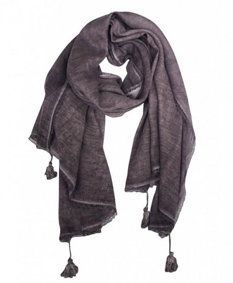 DOCILA Solid Color Poncho Wrap- Fashion Womens Evening Shawl Scarf - Purple - CB1836A9YQ6