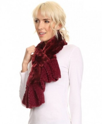 Sakkas 16111 Comfort Ruffle Burgundy in Cold Weather Scarves & Wraps