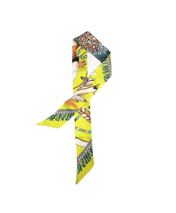 SilRiver Necktie Headbands Hairbands Accessories - Lemon Yellow - CY18426R3U9