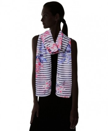 Joules Womens Wensley Longline Printed in Fashion Scarves
