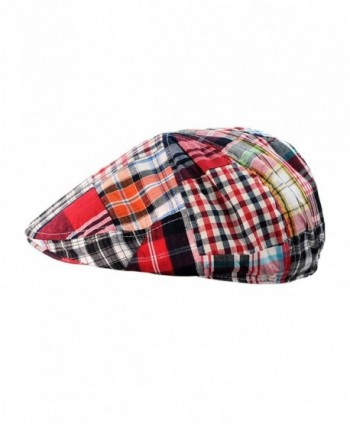 NYFASHION101 Multicolor Patchwork Buttoned Newsboy in Men's Newsboy Caps