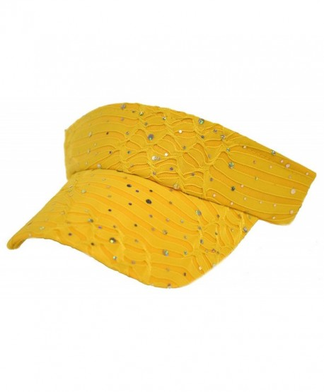 Glitter Visor / Yellow - CW113RB4CZP