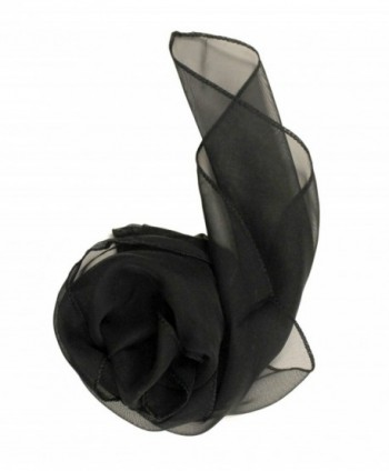 Modadorn Spring & Summer Special Sale Mini Scarf and Handkerchief Pocket Square - Black - C311D3EJJ6N