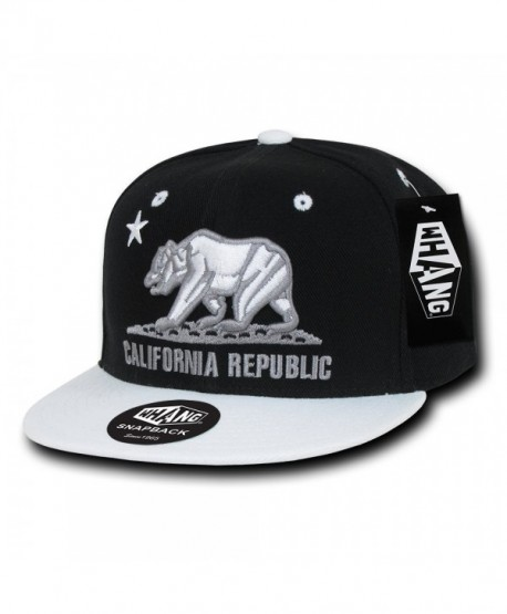 WHANG California Snapbacks - Black/White - CK11D8D7OZR