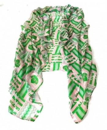 Alpha Kappa Alpha Sorority Pink Green Converttible Scarf-Wrap - CB1880QREUT