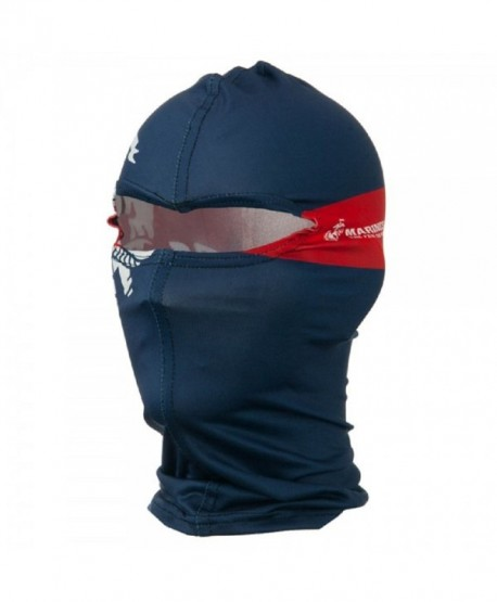 Dark Blue Marine Corps Dual Crest Nylon Motorcycle Balaclava Face Mask - CD11L30PFOT