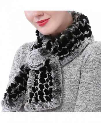 Valpeak Womens Rabbit knitted Winter in Fashion Scarves