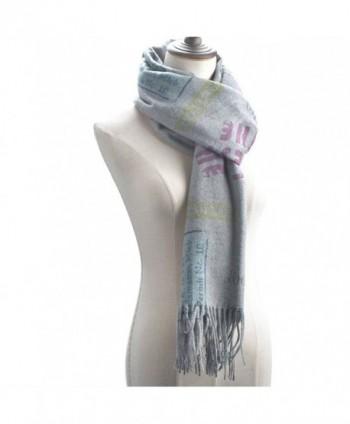 "Women Large Soft Pashmina Shawls Wraps Scarf Long Cover Up Scarves 75""x26"" - Gray - C1189HK8YUC"