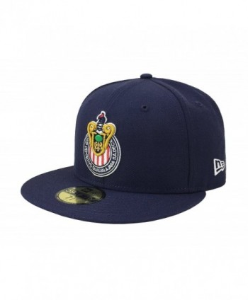 New Era 59Fifty Hat Chivas De Guadalajara Liga MX Soccer Navy Blue Fitted Cap - C917YR5RYHI