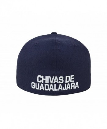 Available. New Era 59Fifty Hat Chivas De Guadalajara Liga MX Soccer Navy  Blue Fitted ... a0139c43d747