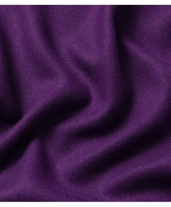 EBMORE Weight Bicycle Cashmere Purple in Cold Weather Scarves & Wraps