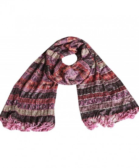 Indian Scarves Womens Wrap Lycra Viscose India Clothing Gift - Multicolor 2 - CY11PQEWSLB