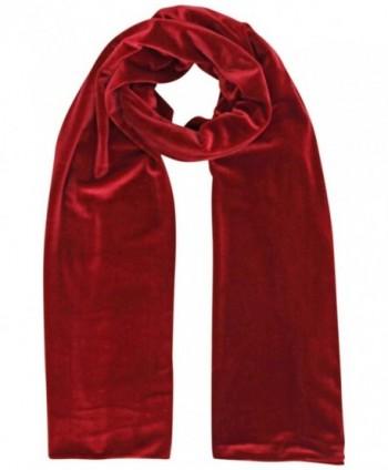 Red Long Velvet Evening Scarf