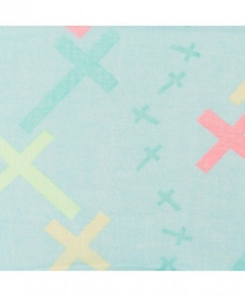 Cross Design Pastel Blue Scarf in Fashion Scarves