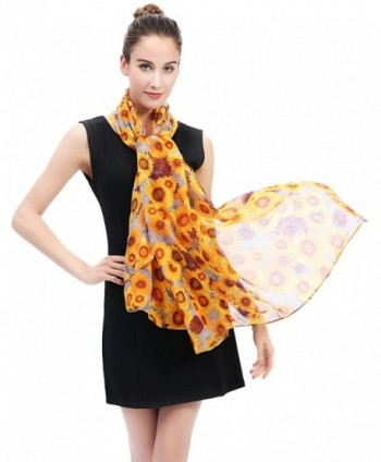 Lina Lily Sunflowers Print Womens in Fashion Scarves