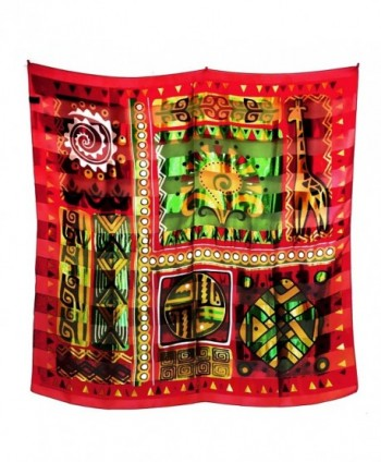 African Geometric Giraffe Silk Feel Lightweight