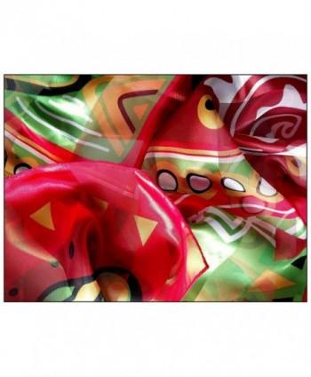 African Geometric Giraffe Silk Feel Lightweight in Fashion Scarves